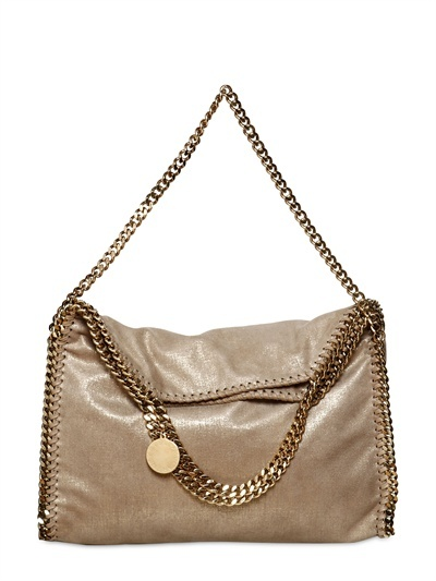 Stella Mccartney - Falabella Gold Chain Faux Suede Bag