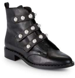 Suesta Embellished Leather Booties
