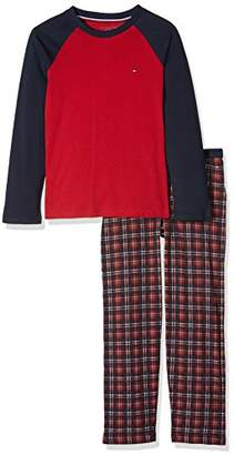 Tommy Hilfiger Boy's Holiday Set LS Pyjama,116 (Size: 6-7)