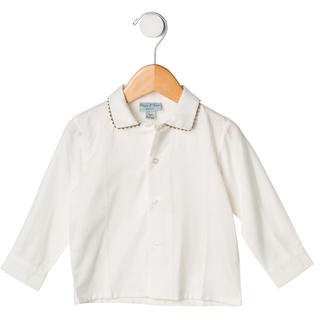 Papo d'Anjo Boys' Long Sleeve Button-Up Shirt w/ Tags