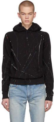 Saint Laurent Black Paint Splatter Hoodie