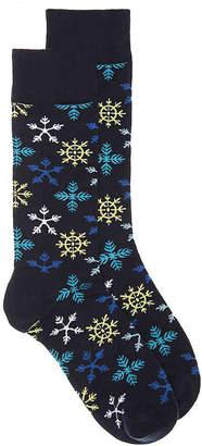 Happy Socks Snowflakes Crew Socks - Men's