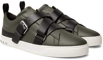 Valentino Garavani V-Punk Leather Sneakers - Black