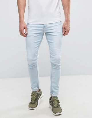 Asos Super Skinny Jeans In Bleach Blue