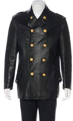 Dolce & Gabbana Lambskin Button-Up Jacket