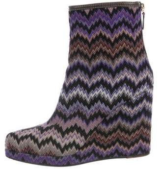 Missoni Knit Wedge Boots