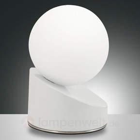 Stylisch designte LED-Tischleuchte Gravity, weiß