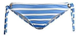 Milly Women's Boca Striped Eyelet Bikini Bottom