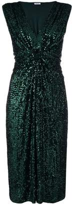 P.A.R.O.S.H. sequined knot waisted dress