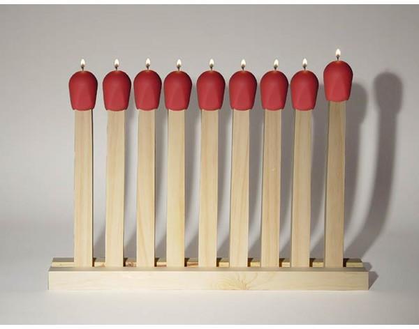 Walteria Living - 'last match' menorah oil lamp by kathleen walsh