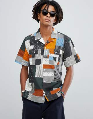 Wood Wood Jayden patch print shirt
