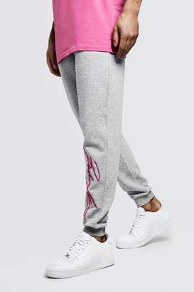 boohoo 3D MAN Autograph Embroidered Joggers