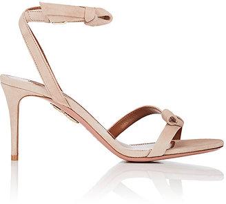 Aquazzura Women's Passion Suede Sandals $775 thestylecure.com