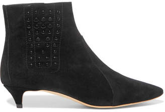 Tod's Studded Suede Ankle Boots - Black