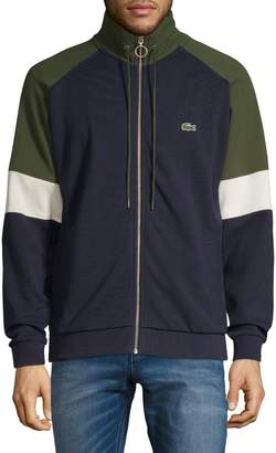 Lacoste Cotton-Blend Zip-Up Colourblock Sweatshirt