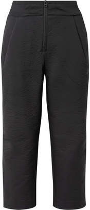 Nike Tech Pack Cropped Wide-leg Neoprene Track Pants - Black