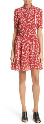Women's The Kooples Floral Print Silk Dress $375 thestylecure.com