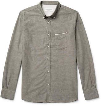 Officine Generale Button-Down Collar Selvedge Cotton Oxford Shirt