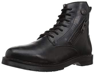 Armani Exchange A|X Men's Lace Up Military Boot with Side Zip Tactical
