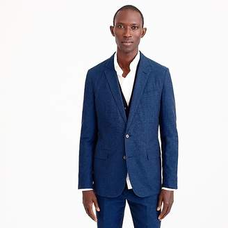 J.Crew Ludlow Slim-fit unstructured suit jacket in blue cotton-linen