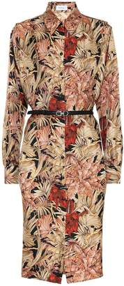 Salvatore Ferragamo Printed silk shirt dress