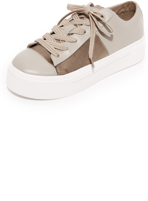 DKNY Bari Platform Sneakers $178 thestylecure.com