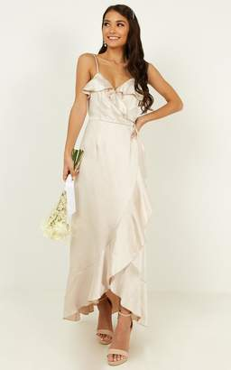 Showpo Wrapped up dress in champagne - 6 (XS) Bridesmaid