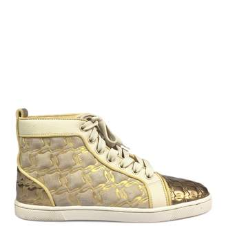 Christian Louboutin Louis Gold Suede Trainers