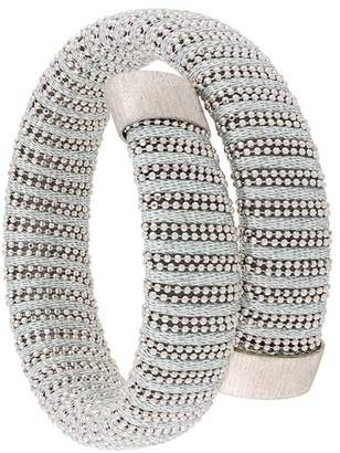Carolina Bucci thread wrapped bracelet stack