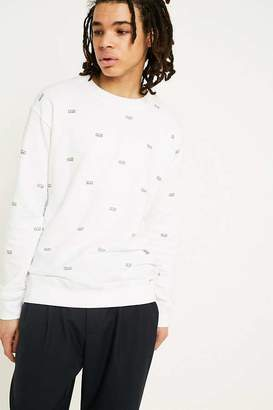 Obey Static White Crew Neck Sweatshirt