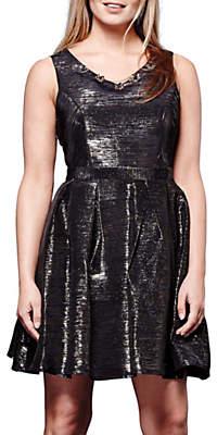 Yumi Metallic Dress, Black