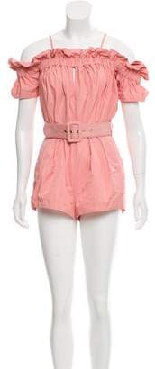 Alice McCall Ruched-Accented Off-The-Shoulder Romper