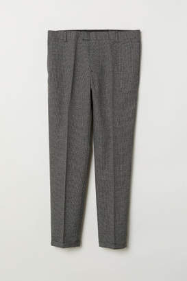H&M Skinny Fit Suit Pants - Black
