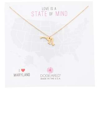 Dogeared 14K Gold Plated Sterling Silver State Of Mind Maryland Pendant Necklace