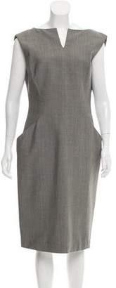 Alexander McQueen Structured Wool-Blend Dress