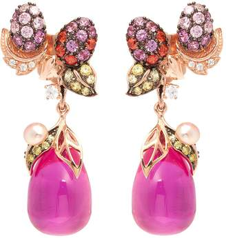 Anabela Chan 'Pinkberry' diamond gemstone freshwater pearl drop earrings