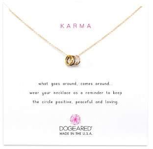 """Dogeared Tiny Sparkle Karma Necklace, 16"""""""