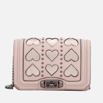 Rebecca Minkoff Women's Heart Small Love Cross Body Bag - Nude/Copper