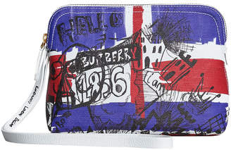 Burberry Zip-top doodle print pouch