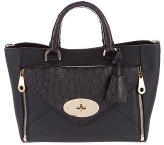 Mulberry Ostrich-Trimmed Small Willow Bag $1,255 thestylecure.com