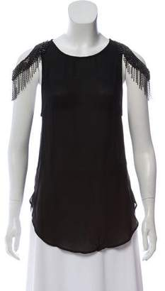 Haute Hippie Embellished Cutout Top