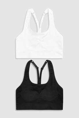 Next Womens Black/White Non Wired Seamless Teen Bras Two Pack