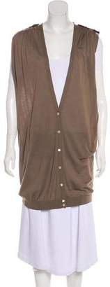 Neil Barrett Sleeveless Knit Cardigan