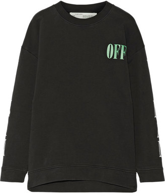 Off-White - Psycho Printed Cotton-jersey Sweatshirt - Black $570 thestylecure.com