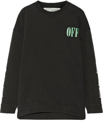 Off-White - Psycho Printed Cotton-jersey Sweatshirt - Black $570 thestylecure.com