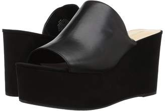 Nine West Kelsawn Platform Wedge Slide Sandal Women's Wedge Shoes