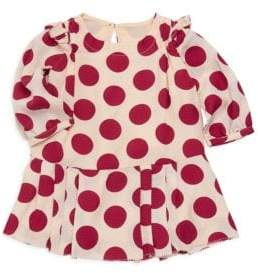 Burberry (バーバリー) - Burberry Burberry Baby Girl's& Little Girl's Mini Lenka Polka-Dot Silk Dress - Windsor Red - Size 6 Months