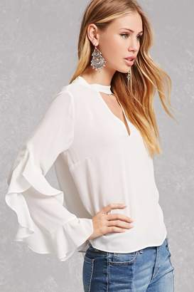 Forever 21 Chiffon Cascading Top