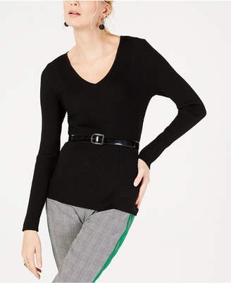 INC International Concepts I.n.c. Ribbed V-Neck Sweater