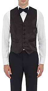 Barneys New York MEN'S SATIN TUXEDO WAISTCOAT-BLACK SIZE 54